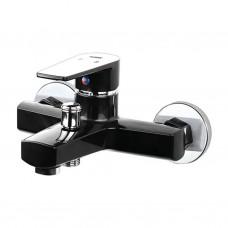 PLAMIX Oscar ванна короткая Black (материал-пластик, без шланга и лейки)