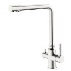 HAIBA SUS-021 Смеситель для кухни из нерж. стали SUS304 с вых. для питьевой воды (10 шт/ящ)
