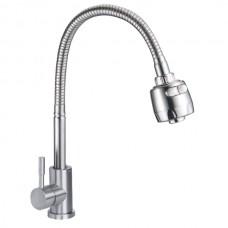 ZERIX LUX-011 REFLECTOR Смеситель для кухни из нерж. стали SUS304 (10 шт/ящ)