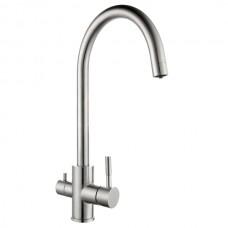 ZERIX SUS-021 Смеситель для кухни из нерж. стали SUS304 с вых. для питьевой воды