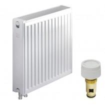Стальной радиатор KOER 22 x 500 x 500B (965 Вт, 15,14кг, низ, с термоклапаном)