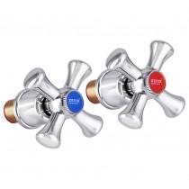 ZERIX HANDLES SET-A827 Ручки (с кранбуксами, пара) керамика