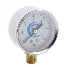 VODOMET VDS-6511 Манометр радиальный 50 мм, 6BAR -нерж, прямая резьба (200 шт/ящ)