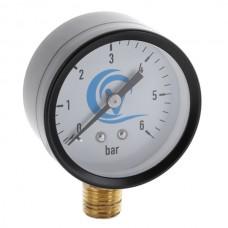 VODOMET VDS-6512 Манометр радиальный 50 мм, 6BAR - черн, прямая резьба (200 шт/ящ)