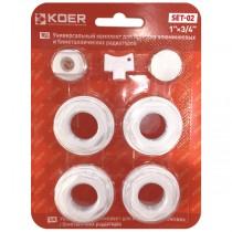 """KOER SET-02 Комплект для радиатора 3/4"""" Без креплений  (40 шт/ящ)"""
