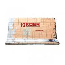 KOER KR.8017 Пленка теплоотражающая металлизированная с разметкой 45 мкр, РУЛОН 50 м