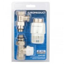 EUROPRODUCT EP.1301 - 1/2'' Комплект для подключения радиатора (прямой) с термоголовкой (28 шт/ящ)