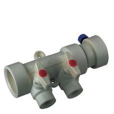 KOER PPR Коллектор 2-way с шаровыми  кранами (40x20) (K0169.PRO) (45 шт/ящ)