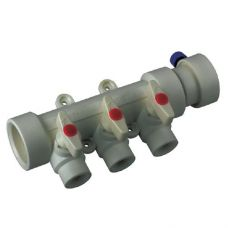 KOER PPR Коллектор 3-way с шаровыми  кранами (40x20) (K0170.PRO) (30 шт/ящ)