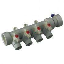 KOER PPR Коллектор 4-way с шаровыми  кранами (40x20) (K0171.PRO) (24 шт/ящ)