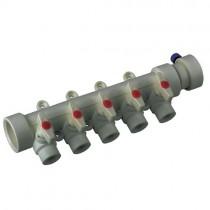 KOER PPR Коллектор 5-way с шаровыми  кранами (40x20) (K0172.PRO) (18 шт/ящ)