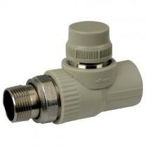 KOER PPR Кран термостатический прямой 25x3/4 (K0152.PRO) (90 шт/ящ)
