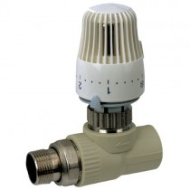 KOER PPR Кран термостатический с термоголовкой прямой 20x1/2 (K0155.PRO) (24 шт/