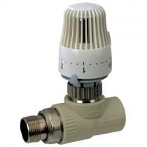 KOER PPR Кран термостатический с термоголовкой прямой 25x3/4 (K0156.PRO) (24 шт/