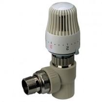 KOER PPR Кран термостатический с термоголовкой угловой 25x3/4 (K0154.PRO) (24 шт