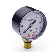 KOER Манометр радиальный 502R 6 bar, D=50мм, 1/4''