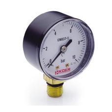 KOER Манометр радиальный 502R 10 bar, D=50мм, 1/4''