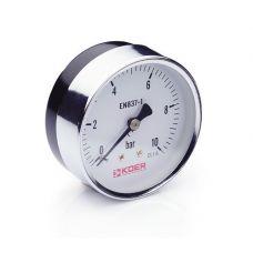 KOER Манометр аксиальный 611A 10 bar, D=63мм, 1/4''