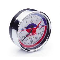 KOER Термо-Манометр аксиальный 812A 4 bar, D=80мм, 1/2''
