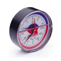 KOER Термо-Манометр аксиальный 802A 4 bar, D=80мм, 1/2''