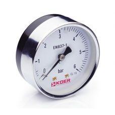 KOER Манометр аксиальный 611A 6 bar, D=63мм, 1/4''
