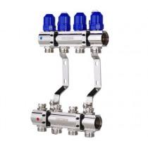 """KOER KR.1100-04 1""""x4 WAYS Коллекторный блок с термостатическими клапанами"""