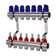 """KOER KR.1110-07 1""""x7 WAYS Коллекторный блок с расходомерами"""