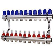 """KOER KR.1110-11 1""""x11 WAYS Коллекторный блок с расходомерами"""